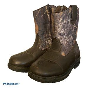 Boys  Deer Stag Tour Camo Thinsulate  Boots Size 4